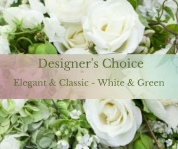 Elegant & Classic in White & Green