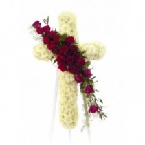 ELEGANT CROSS Standing Sympathy Flowers