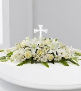 Elegant Crystal Cross Arrangement
