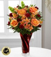 Elegant Fall Splendor Gorgeous Vase with Fall Flowers