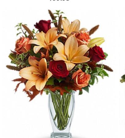 Elegant Fall Vase