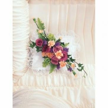 Elegant Flower Casket Pillow