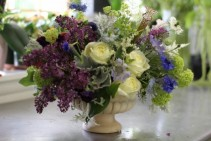Elegant Garden Centerpiece Fresh Cut from the Garden (Flowers may vary
