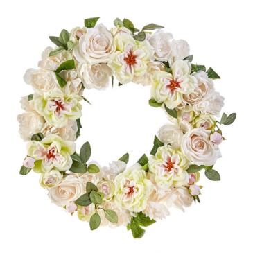 Elegant Garden Peonies Permanent Wreath