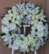 Elegant Grace Floral Wreath