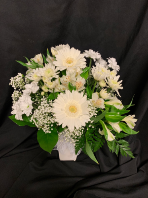Whispering White Vase Arrangement in Red Lake, ON | FOREVER GREEN GIFT BOUTIQUE