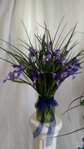 Elegant Iris Vase feature arrangement