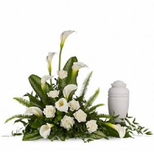 Elegant Lilies Cremation Tribute PFD217-1A in La Plata, MD | Potomac Floral Design Studio