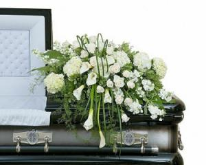 Elegant Love Casket Spray  in Macon, GA | PETALS, FLOWERS & MORE
