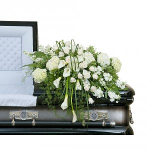 Elegant Love Casket Spray Spray In Spring Tx Towne Flowers