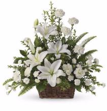Elegant Memories Funeral Basket