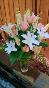 Crystal Elegance Vase Arrangement