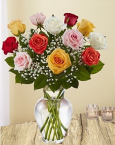 Elegant Multicolor Roses Assorted Color Premium Roses