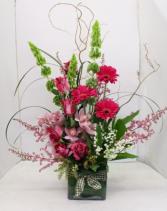 Elegant Orchids Cube Contemporary