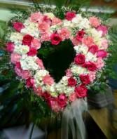 Elegant Pink Open Heart