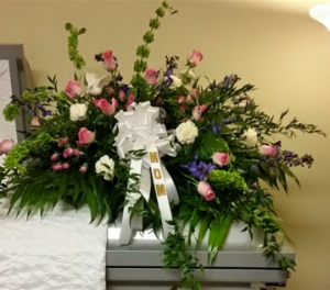 Elegant  Pink, Purples with Bells of Ireland in Plainview, TX | Kan Del's Floral, Candles & Gifts