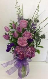 Elegant Purple Passion Fresh vase arrangement