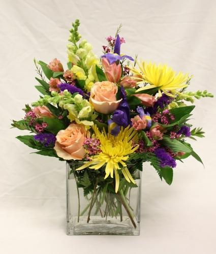 Elegant Rectangle Floral Vase