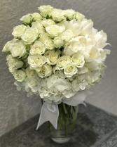Elegant Romance Bouquet Vased Arrangement