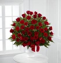 Elegant Roses Funeral Basket