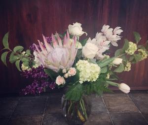 Elegant Spring Vase Arrangement in Astoria, OR | BLOOMIN CRAZY FLORAL