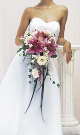 Elegant Stargazer Bouquet Pink Stargazer Lilies Roses In Ontario