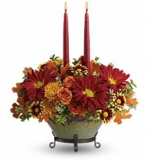 Elegant Thanksgiving Fresh Centerpiece