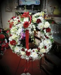 Elegant Tribute Sympathy Wreath