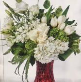 Elegant Tulips, Roses & Hydrangeas