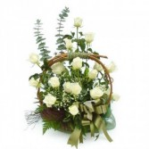 Elegant white basket everyday