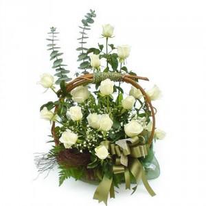 Elegant white basket everyday