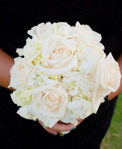 ELEGANT WHITE  Bridesmaids Bouquet
