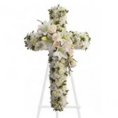 Elegant White Cross Funeral