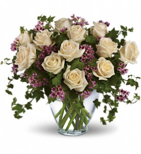 Elegant White Dozen Rose Arrangement in Daphne, AL | FLOWERS ETC & CAFE'