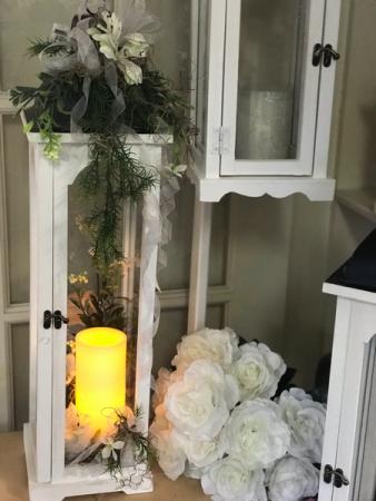 Elegant white lantern  Silk