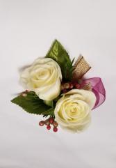 Elegant White Rose Boutonniere