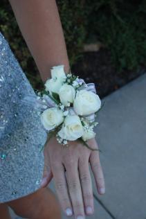 Elegant White Rose Wrist Corsage