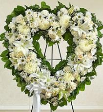 Elegant White Standing Heart