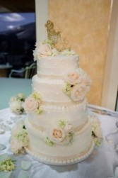 ELEGANT WHITE  Wedding Cake Flowers