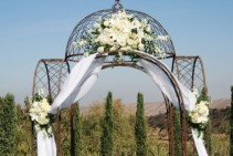 ELEGANT WHITE  Wedding Ceremony Flowers