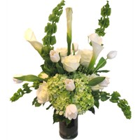 Elegant Whites & Greens Bouquet