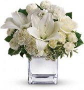 Elegantly White Silver Mirror Cube