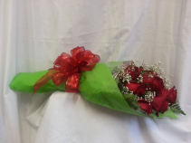 Elegant Wrapped Roses