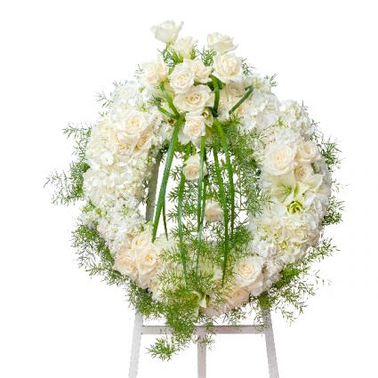 Elegant Wreath Standing Spray