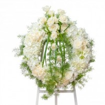 Elegant Wreath Fresh Flower Spray