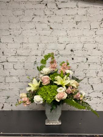 elegantly pastel vase