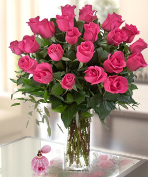 Eleganza a la PINK- Two Dozen roses  in Whittier, CA | Rosemantico Flowers