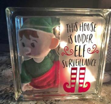 Elf Surveillance Lighted Block