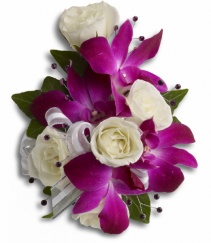 Elite Rose And Orchids Wrist Corsage