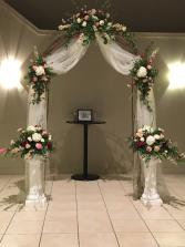 Embellished Ceremony Arch Design Rental